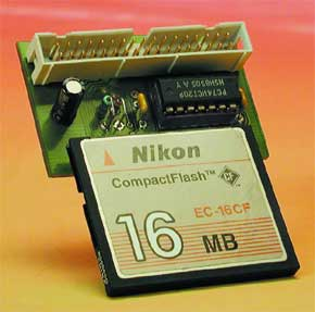 CompactFlash-interface voor uC