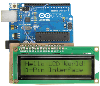 Eéndraads LCD-interface