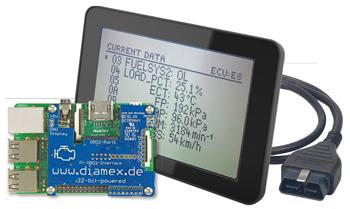 Handheld OBD2-analyser op de Raspberry Pi