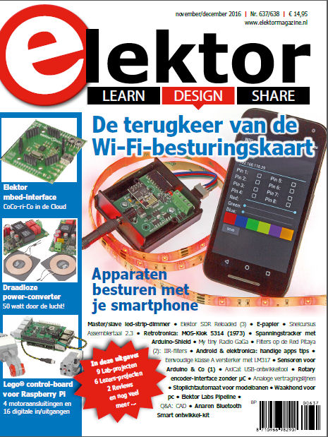 Elektor Magazine november/december 2016 nu verkrijgbaar!