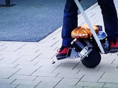 Zelfbalancerende 360-graden-scooter. Bron: Gizmodo