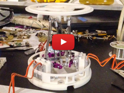 Via GIF-animaties communicerende robot met Raspberry Pi & Arduino