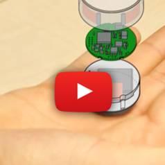 Kleine tastbare objecten met ingebouwde aanraak- en bewegingsdetectie