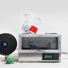Voed uw 3D-printer met plastic flessen!