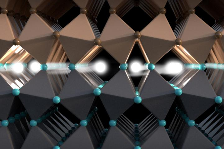 De spin van elektronen transporteert informatie in deze geleidende laag tussen twee isolatoren. Afbeelding: Christoph Hohmann / NIM