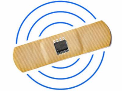 Slimme pleisters... straks met sensortechniek en draadloze communicatie? Afbeelding: T. Scherer