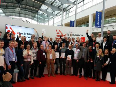 Deelnemers van de electronica Fast Forward Awards 2016